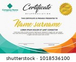 certificate template with... | Shutterstock .eps vector #1018536100