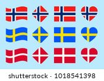 the scandinavian countries... | Shutterstock .eps vector #1018541398
