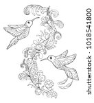 page for coloring book with two ... | Shutterstock .eps vector #1018541800