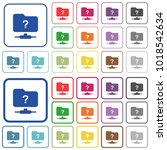 unknown ftp color flat icons in ... | Shutterstock .eps vector #1018542634