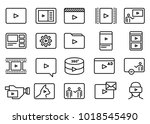 set of simple video content... | Shutterstock .eps vector #1018545490