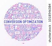conversion optimization concept ...   Shutterstock .eps vector #1018546384