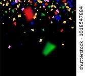 festival confetti background.... | Shutterstock .eps vector #1018547884
