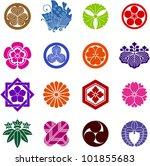 family crest of japan | Shutterstock .eps vector #101855683