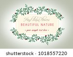 watercolor wreath  hand painted ... | Shutterstock . vector #1018557220