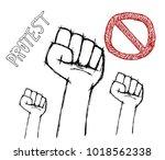 protest poster on white... | Shutterstock .eps vector #1018562338
