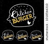 vector set of illustrations of... | Shutterstock .eps vector #1018566310