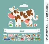 vector flat illustration of... | Shutterstock .eps vector #1018568083