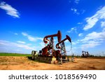 the oil pump  industrial... | Shutterstock . vector #1018569490
