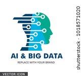 computer science logo icon | Shutterstock .eps vector #1018571020