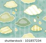 seamless cute  pattern of sky ...