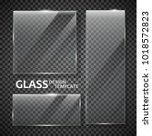 glass plates set. glass banners ... | Shutterstock .eps vector #1018572823