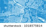 urban vector city map of... | Shutterstock .eps vector #1018575814