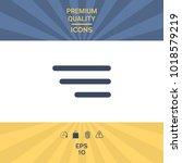 modern menu icon for mobile... | Shutterstock .eps vector #1018579219
