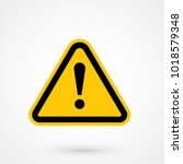 yellow warning dangerous... | Shutterstock .eps vector #1018579348