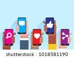 social media applications.... | Shutterstock .eps vector #1018581190