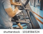 coach and client at the gym | Shutterstock . vector #1018586524