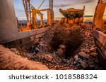 platinum mining and processing  ... | Shutterstock . vector #1018588324