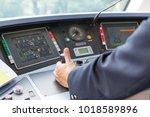 train driver. railroad engineer.   Shutterstock . vector #1018589896