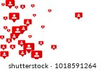 follow icon. notifications with ... | Shutterstock .eps vector #1018591264