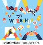 vector colorful cartoon... | Shutterstock .eps vector #1018591276