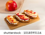 bruschetta sandwiches fried... | Shutterstock . vector #1018595116