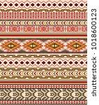 aztec ethnic pattern stripes | Shutterstock . vector #1018600123
