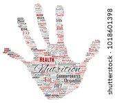 vector conceptual nutrition... | Shutterstock .eps vector #1018601398