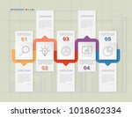 infographic template of five...   Shutterstock .eps vector #1018602334
