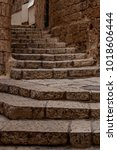 ancient stairs in stone old... | Shutterstock . vector #1018606444