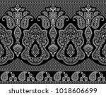 seamless black and white... | Shutterstock . vector #1018606699