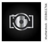 photography icon vector logo... | Shutterstock .eps vector #1018611766