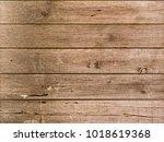 brown wood texture background... | Shutterstock . vector #1018619368