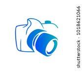 photography icon vector logo... | Shutterstock .eps vector #1018621066