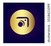 photography icon vector logo... | Shutterstock .eps vector #1018621099