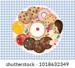 an illustration of an aerial...   Shutterstock . vector #1018632349