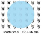 simple template with a pattern... | Shutterstock .eps vector #1018632508