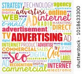advertising word cloud collage  ... | Shutterstock .eps vector #1018633300