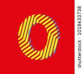 number zero 0  fraction with... | Shutterstock .eps vector #1018633738
