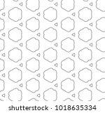 seamless geometric ornamental...   Shutterstock .eps vector #1018635334