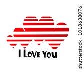 a declaration of love. vector... | Shutterstock .eps vector #1018638076