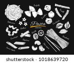 italian pasta set. different... | Shutterstock .eps vector #1018639720