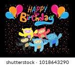 happy birthday beautiful...   Shutterstock .eps vector #1018643290