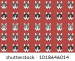 wallpaper with a husky pattern | Shutterstock .eps vector #1018646014