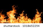 fire flames collection isolated ... | Shutterstock . vector #1018652254