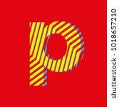 letter p  set of letters... | Shutterstock .eps vector #1018657210