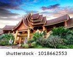 beautiful buildings in ancient... | Shutterstock . vector #1018662553