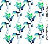 seamless pattern with beautiful ... | Shutterstock . vector #1018663624