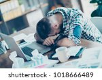 concept of having no idea and... | Shutterstock . vector #1018666489