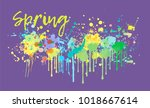 abstract spring song melody...   Shutterstock .eps vector #1018667614